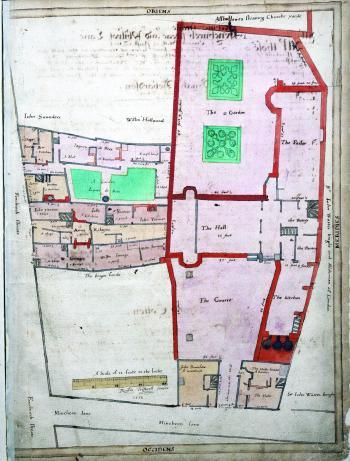 Clothworkers' Hall, Treswell Survey, 1612