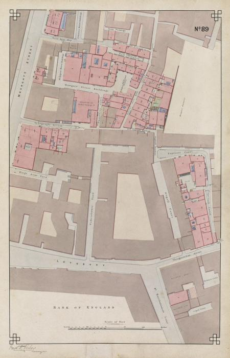 Plan of the Clothworkers' Company's EC2 properties, 1872