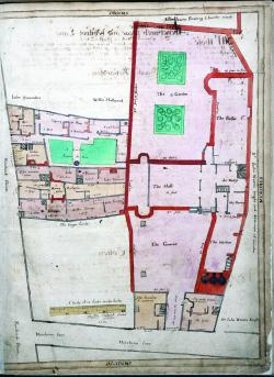 South side, Fenchurch Street, adjoining Clothworkers' Hall, Treswell Survey, 1612
