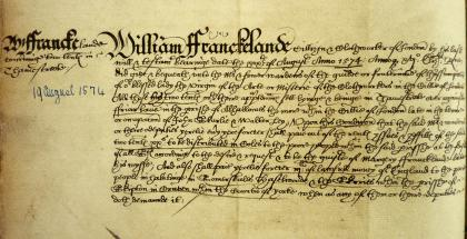 William Franckland's gift, Book of Deeds and Wills