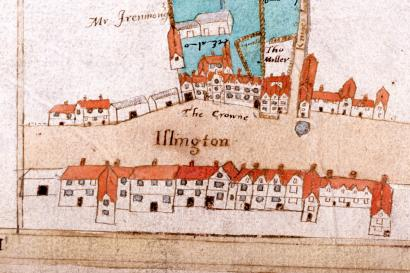 Extract, The Islington Lands, Ralph Treswell, 1612
