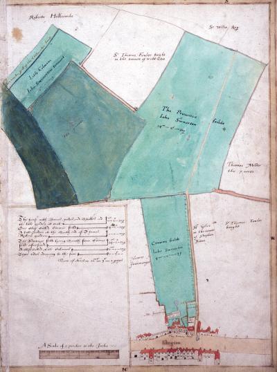 The Islington Lands, Ralph Treswell, 1612