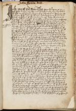 John Field's Will, Book of Deeds and Wills, 1527