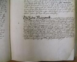 Lady Margaret, Countess of Kent's Indenture, Book of Deeds and Wills, 1538