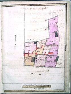 Mark Lane and Harte Street, Treswell Survey, 1612