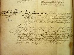 Extract from Sir Robert Parkhurst's Will, Book of Deeds and Wills, 1636