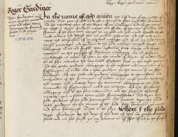 Roger Gardiner's Will, Book of Deeds and Wills