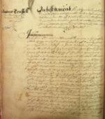 James Trussell's Will, Book of Deeds and Wills, 1636