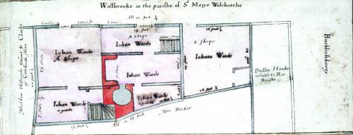 Walbrook, Treswell Survey, 1612