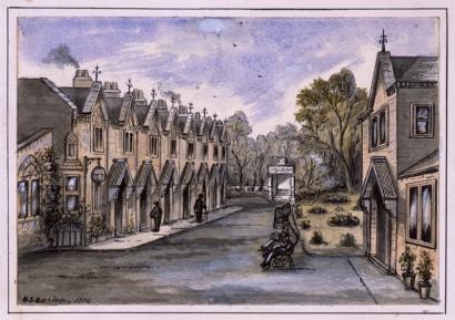 Islington Almshouses, 1874