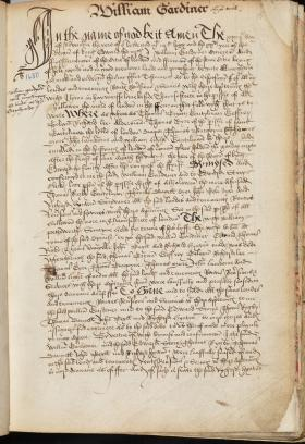William Gardiner's Will, Book of Deeds and Willa