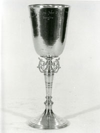 Replica of Bayworth's cup, presented to Farnham, Surrey