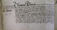 Thomas Dixon's Will