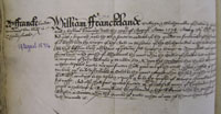 William Franckland's Will