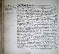 William Heron's wll