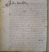 John Hobby's Will, Book of Deeds and Wills, 1675