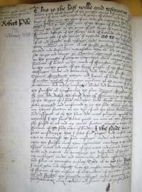 Robert Peele's Will