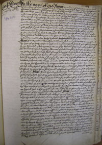 Edward Pilsworth's Will, Book of Deeds and Wills, 1603