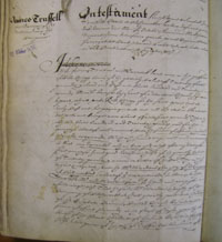 James Trussell's will